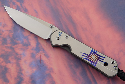 Small Sebenza 21 with Unique Graphic - Pinwheel