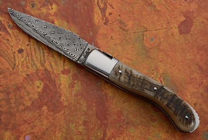 Laguiole Sport with Sheep Horn and Damascus