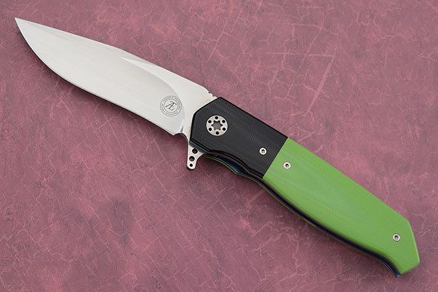 L36 IKBS Flipper with Toxic Green and Black G10