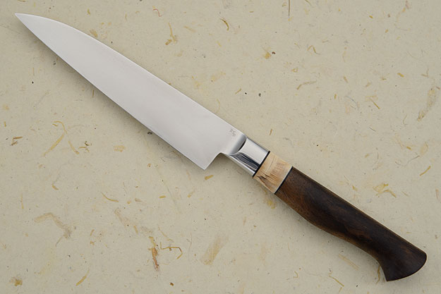Utility Knife with Walnut and Mammoth Ivory (5-3/4 in)