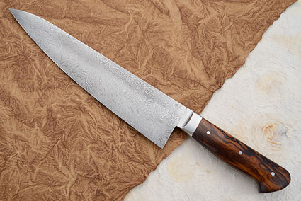 Chef's Knife with Desert Ironwood and Star Burst Damascus (9-3/4 in)