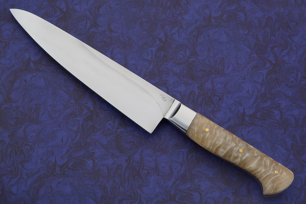 Utility Knife (Petit Gyuto) with Muskox Horn (6