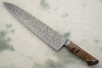Chef's Knife with Mango Wood, Box Elder Burl and Curly Koa (11-1/4 in.)