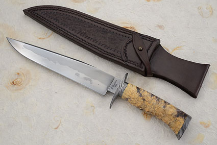 Hamon Bowie with Stabilized Box Elder Burl