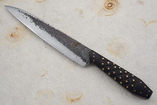 Coffin-Handled Damascus Rifleman's Wharncliffe