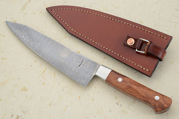 Damascus Chef's Knife with Bubinga (7 in)