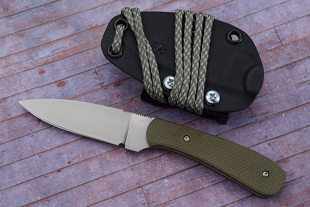 Small Practical EDC with Textured Olive G10