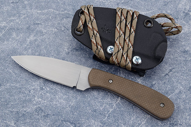 Small Practical EDC with Textured Coyote Brown G10