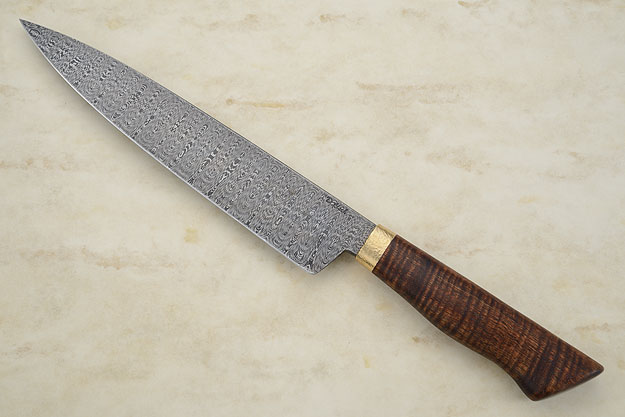 Damascus Chef's Knife (9 1/4 in.) with Curly Koa