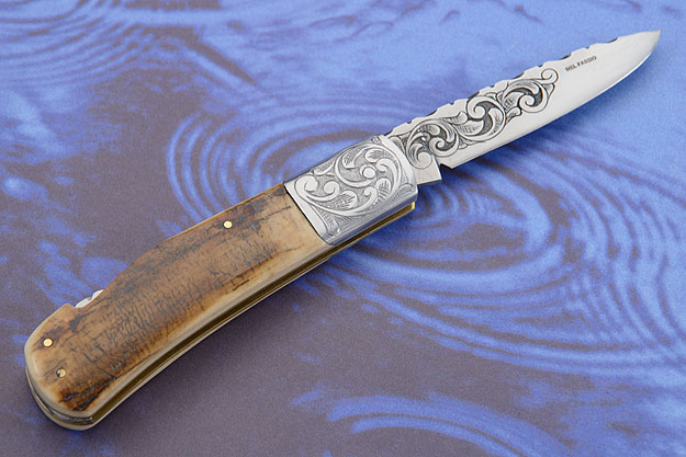 Engraved Mammoth Ivory Folder