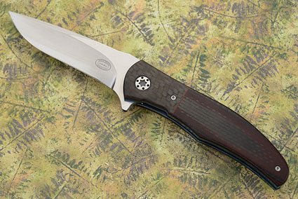 LL13 Flipper with Red G10 and Carbon Fiber (IKBS)