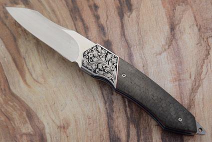 Engraved Tactical Folder with Carbon Fiber (IKBS)