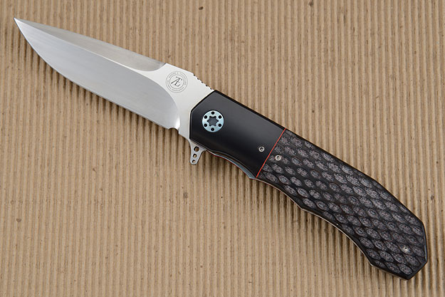 L44 Flipper with Jigged Black G10 and Black Micarta (IKBS)