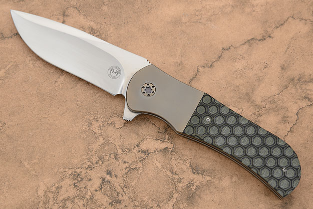 M39 Framelock Flipper with Honeycomb G10 and Titanium (IKBS)