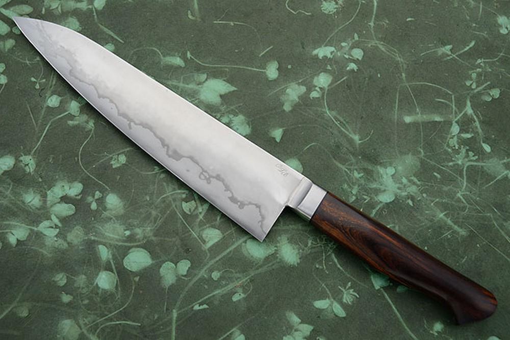 Chef's Knife (Gyuto) - San Mai with Ironwood (9-1/8