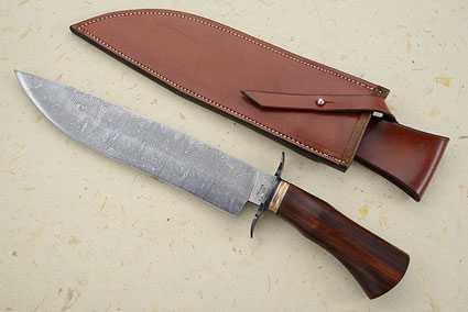 Wolf Tooth Damascus Bowie (MS Test Knife)