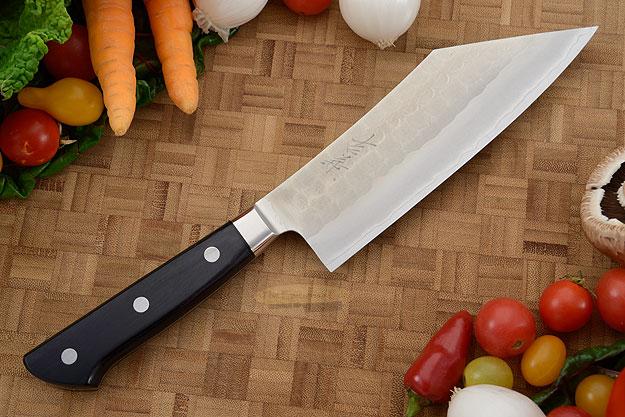 Hammer Finished Chef's Knife - Hakata Santoku, Western - 6 1/2 in. (165mm)