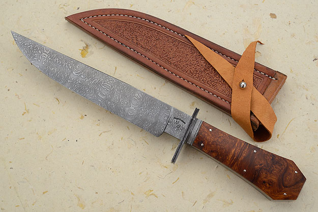 Coffin Handled Bowie<br><i>Best Damascus</i>, 2013 MKA Show