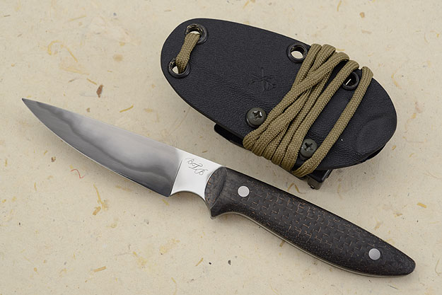 San Mai Tactical EDC Utility with Lightning Strike Carbon Fiber
