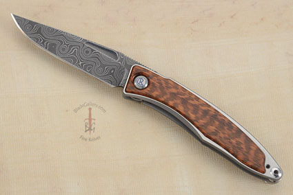 Mnandi with Snakewood and Raindrop Pattern Damascus