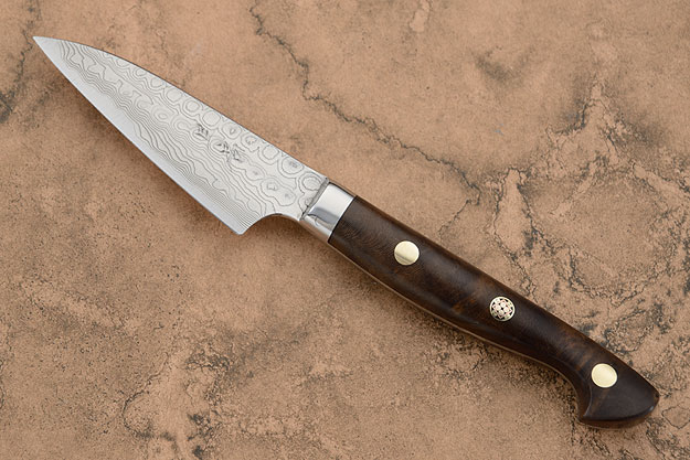 Paring (Petty) Knife with Russian Walnut Burl (3-1/4 in.)