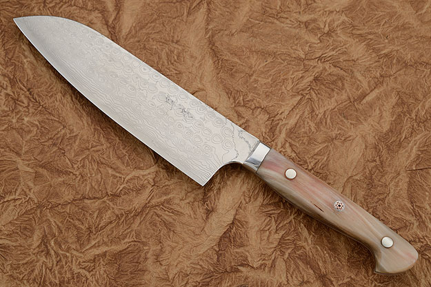 Santoku (Chef's Knife) with Sheep Horn - 170mm (6 3/4 in.)