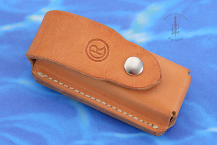 Leather Belt Pouch, Tan Leather