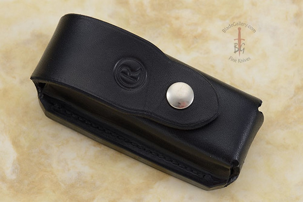 Leather Belt Pouch, Black Leather