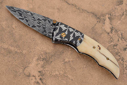 Mosaic Damascus Batwing with Mammoth Ivory