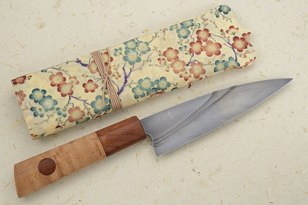 Chef's Knife (6-1/2 in) with Maple Burl and Desert Ironwood