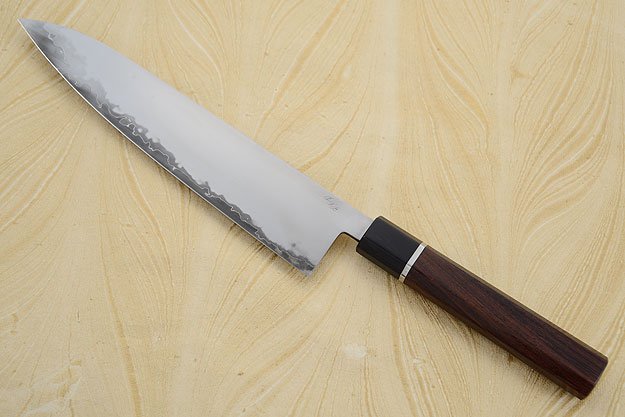 Chef's Knife (Gyuto) with San Mai Traditional Macassar Ebony Handle (9.2