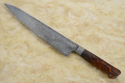 Mosaic Damascus Chef's Knife (Gyuto) with Ironwood  (10 in.)