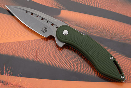 Mini Glimpse Friction Folder with Forest Green Sunburst G10