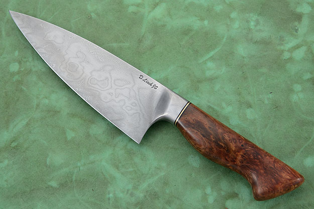 Chef's Knife (6-3/4 in.) with Amboyna Burl and Damascus