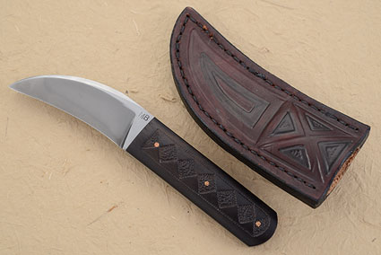 Hawk with Carved African Blackwood