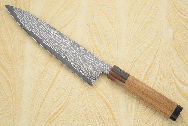 Chef's Knife (Gyuto) with Damascus San Mai and Enju Wood (8-2/3 in)
