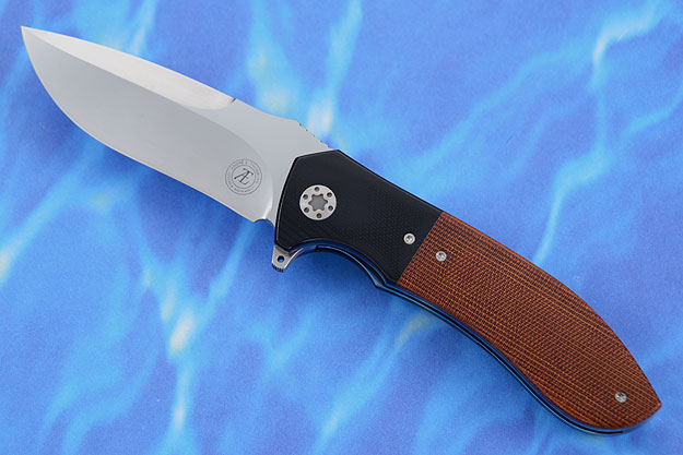 L50 Flipper with Brown Canvas Micarta and Black G10 (IKBS)