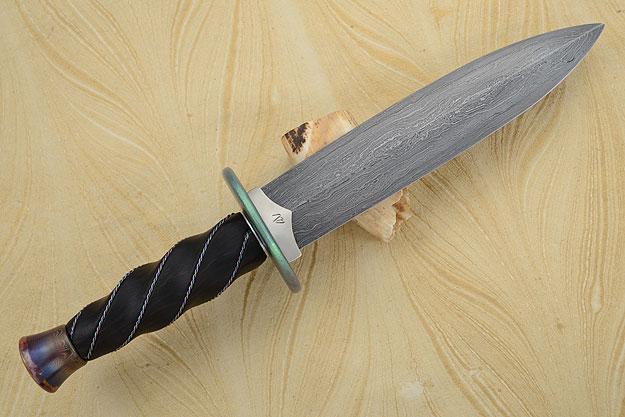 Fluted Damascus Dagger