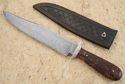 West Texas Wind Bowie with Walnut Burl