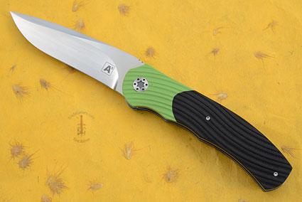 A1 Front Flipper with Black and Toxic Green G10 (IKBS)