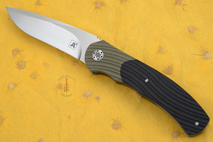 A1 Front Flipper with Black and Olive G10 (IKBS)