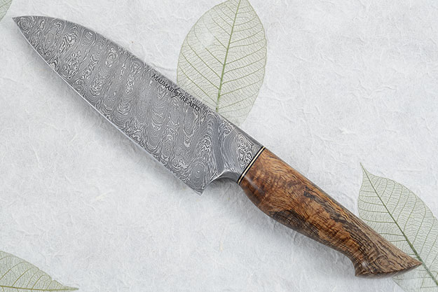 Chef's Knife (Santoku) with Curly Mango and Damascus (6-1/4 in)