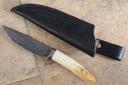 Hippo Tooth Hunter with Firestorm Damascus