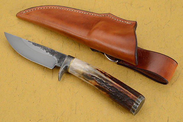 Forge Finish Skinner with Sambar Stag