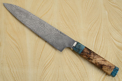 Chef's Knife - Gyuto - (9-1/8 in.) with Spalted Maple Burl