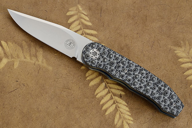 L48 Front Flipper with Black/Gray Bobble Textured G10 (IKBS)