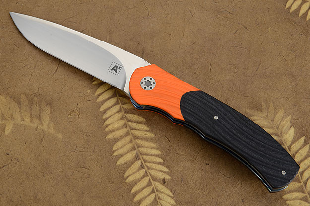 A1 Front Flipper with Black and Orange G10 (IKBS)
