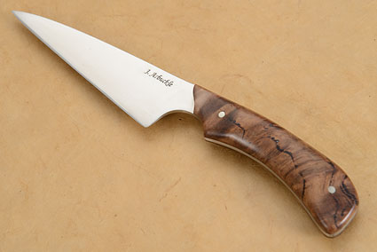 Wharncliffe Chef's Utility Knife (4-1/4 in) with Eucalyptus Burl