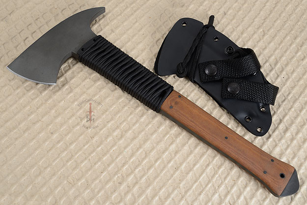 Breaching Axe with Tan Micarta, Cord Wrap and Caswell Finish