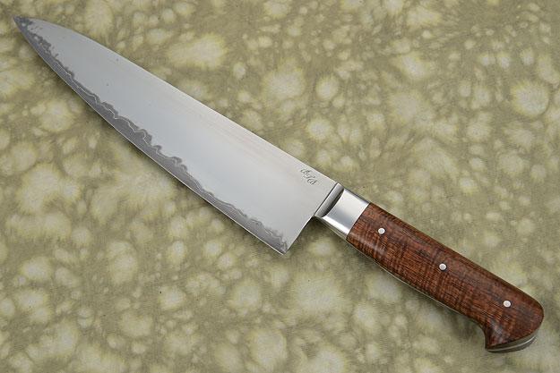 San Mai Chef's Knife (Gyuto) with Curly Koa (8-1/2